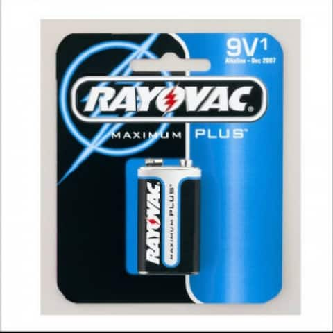 Rayovac A1604-1 Alkaline Battery, 9V