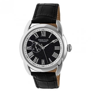 Heritor Marcus Men's Automatic Watch, Genuine Leather Band, Sapphire-Coated Crystal