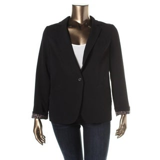 AGB Womens One-Button Blazer Vented Notch Lapel - 8