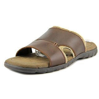 Crevo Venti Men  Open Toe Synthetic Brown Slides Sandal