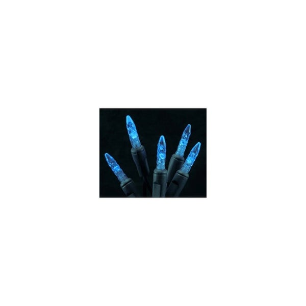 Christmas at Winterland S-70M5BL-4G 23 Foot String of Blue M5 LED Lights with 4 Inch Spacing and Green Wire - N/A