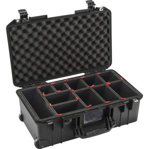 Pelican 1535AirTP 2017 Wheeled Carry-On Case with TrekPak Insert (Black)