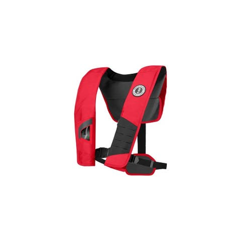 Mustang DLX 38 Deluxe Automatic Inflatable PFD - Red / Black Automatic Inflatable PFD