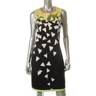 Elie Tahari Womens Gimmy Printed Sleeveless Wear to Work Dress - 4