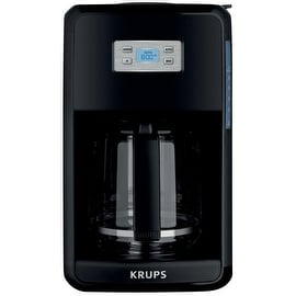 Krups EC311050 Savoy 12-Cup Coffee Maker, Black