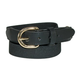Aquarius Kids' Elastic 1 Inch Adjustable Strap Stretch Belt - Navy - One Size