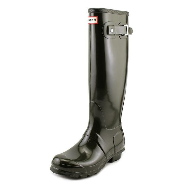 Hunter Original Tall Gloss Round Toe Synthetic Rain Boot