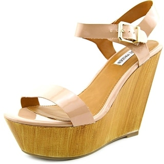 Steve Madden Azul Open Toe Synthetic Wedge Heel