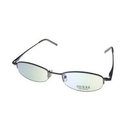Guess Opthalmic Eyeglass Mens Oval Rimless Metal Black Grey 1411