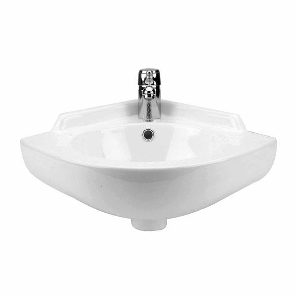 Small Corner Bathroom Wall Mount Sink Grade A Vitreous China