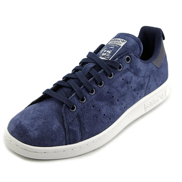 Adidas Stan Smith Men Round Toe Suede Blue Sneakers