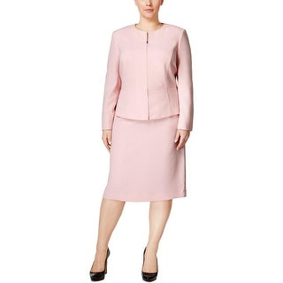 Tahari ASL Womens Plus Skirt Suit 2PC Zip-Front - 18W