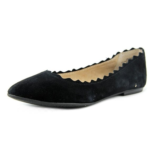 1135791552e1e Shop Audrey Brooke Winny Women Round Toe Suede Black Flats - Free ...