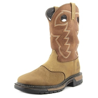 Rocky Ranch Master Men  Round Toe Leather Brown Western Boot