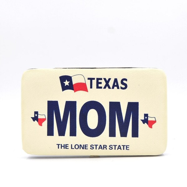 9767085c8de Shop Txl-Aw005M Texas Mom Print Frame Wallet - Color - Black - Free ...