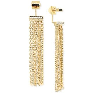 Macys Vince Camuto Gold-Tone Fringe Front to Back Earrings - Gold