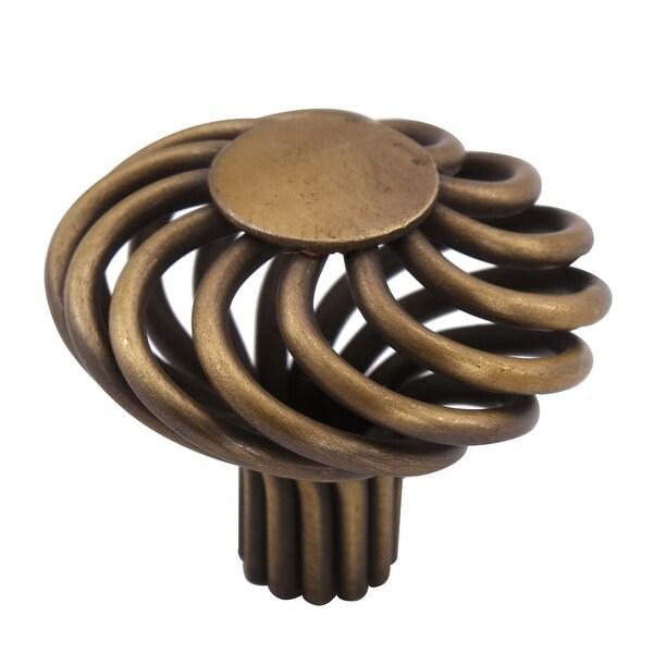 Knobs metal Vintage Round 35mm Knob Drawer Pull Handle DIY Furniture Wardrobe Dresser Door Replacement Accessory - 1pcs