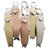 "Women's Six Women Pin - Tri Color Mixed Metals 1 1/4"" High"