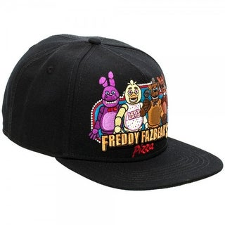 Five Nights At Freddy's Black Snapback Hat