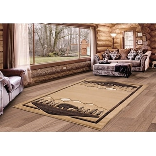 Westfield Home Graham Canopy Hand-Carved Area Rug