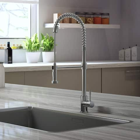 Soneva Collection. Spring Spout kitchen faucet. Brushed stainless finish. By Lulani