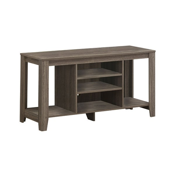 """47.75"""" Taupe Brown Contemporary Style Rectangular TV Stand - N/A"""