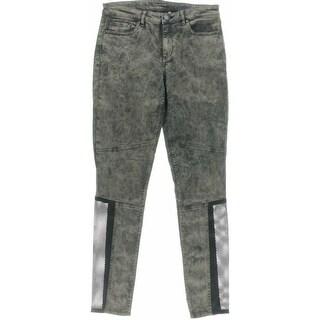 Elie Tahari Womens Azella Tencel Blend Mesh Inset Skinny Jeans - 27