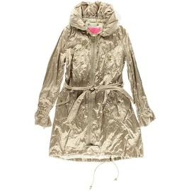 Betsey Johnson Womens Shimmer Hooded Coat - XL