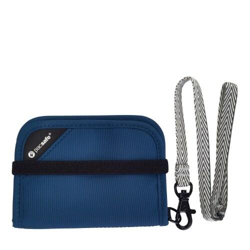 Pacsafe RFIDsafe V50-Blue Anti-Theft RFID Blocking Compact Wallet w/ 5 Card Slot