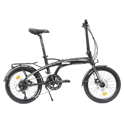 HASA Folding foldable Bike Shimano 18 Speed Black