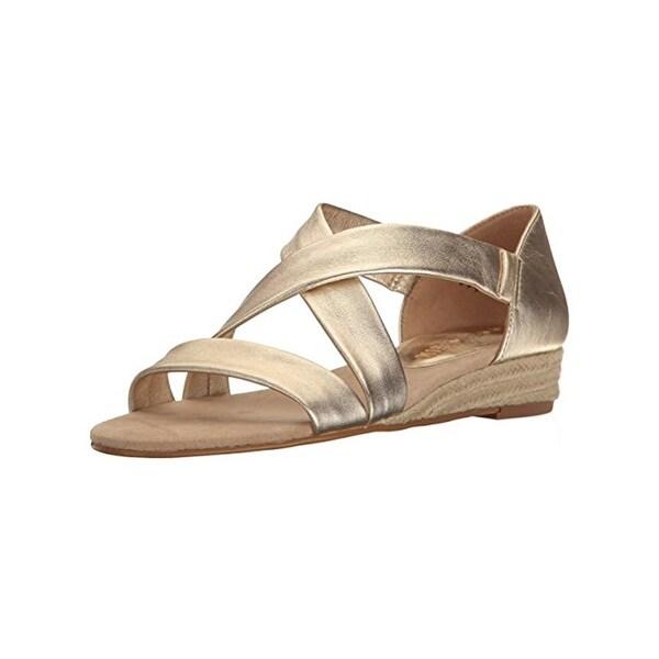 Anne Klein Womens Nicco Wedge Sandals Leather Espadrille