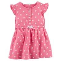 Carter's Baby Girls' Polka Dot Jersey Dress, Pink