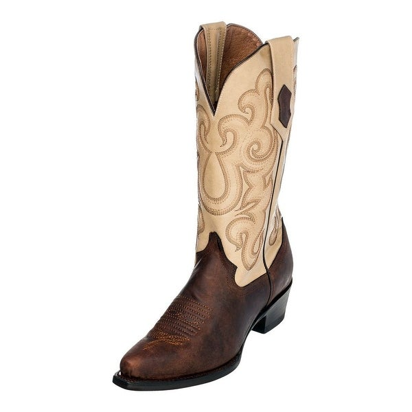 Ferrini Western Boots Womens Snip Toe Pull Straps Chocolate