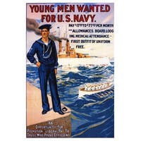 US Navy - Young Men Wanted - Vintage Advertisement (Chef's Cotton/Poly Apron)