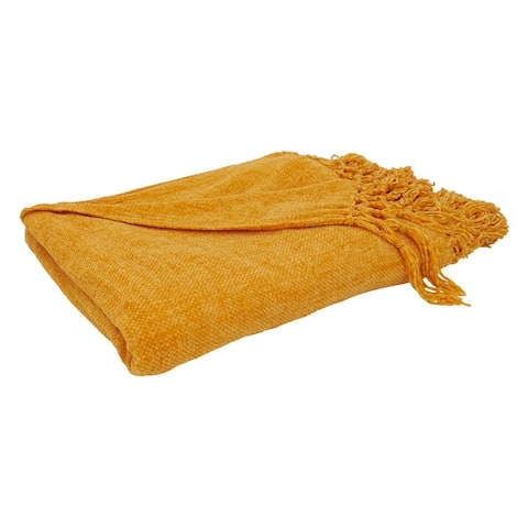 Knotted Design Chenille Throw