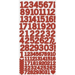 Red -Number Stickers (5/Pack)