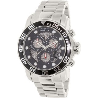 Invicta Men's Pro Diver 19836 Silver Stainless-Steel Plated Diving Watch