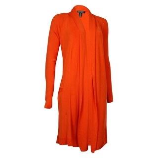 Lauren Ralph Lauren Women's Ribbed Shawl Collar Cardigan (S, Orange) - Orange