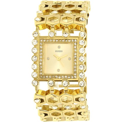 Guess Women's Gold Stainless-Steel Quartz Fashion Watch