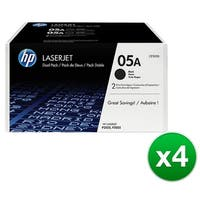 HP 05A Black Original LaserJet Toner Dual Cartridge (CE505D)(4-Pack)