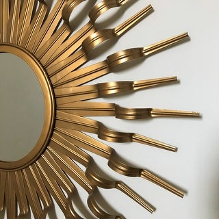 Safavieh Handmade Arts and Crafts Gold 36-inch Sunburst Mirror - Antique Gold