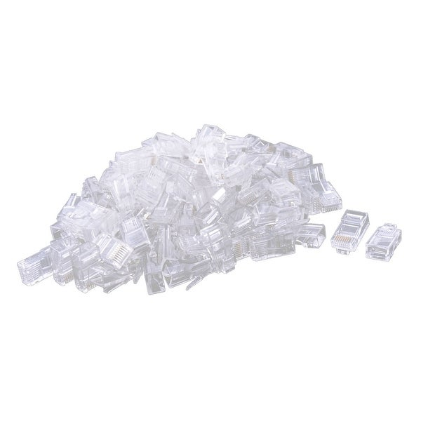 110 PCS Platic RJ45 Crystal 8P8C Network Modular Connector Plug Cat5