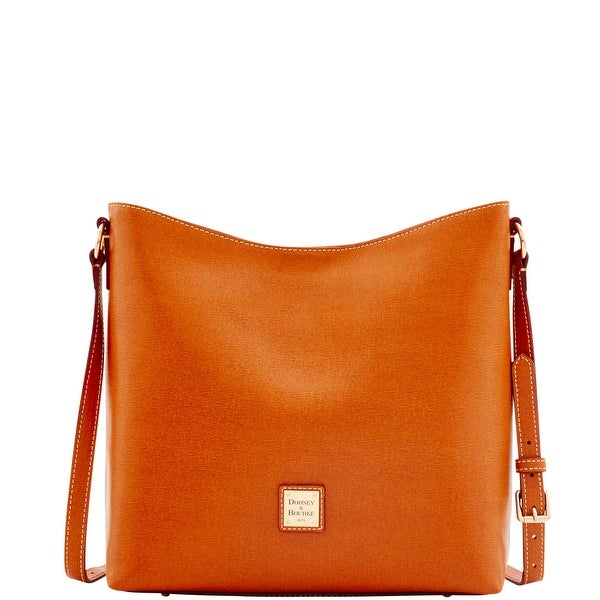Dooney & Bourke Saffiano Hobo Crossbody (Introduced by Dooney & Bourke at $228 in Feb 2017) - Natural
