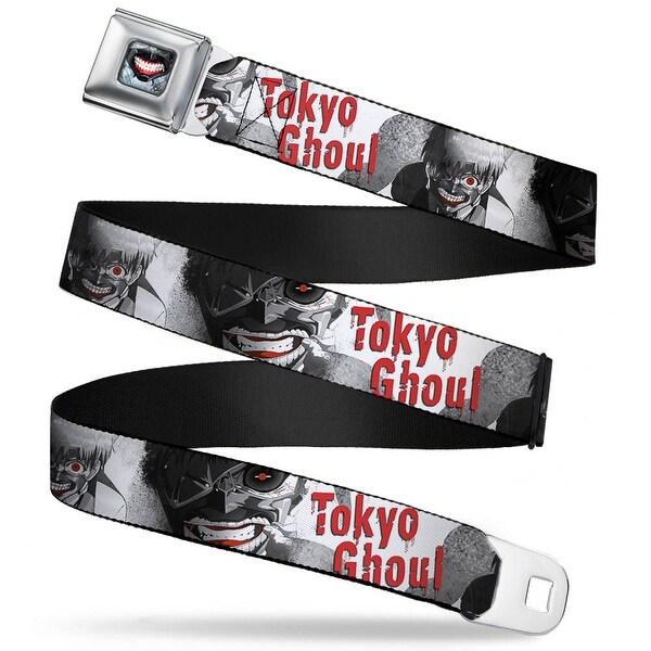 Masked Ken Kaneki Smile Full Color Grays Red White Tokyo Ghoul Masked Ken Seatbelt Belt