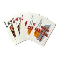 San Fran CA Retro Golden Gate Bridge LP Artwork (Poker Playing Cards Deck)