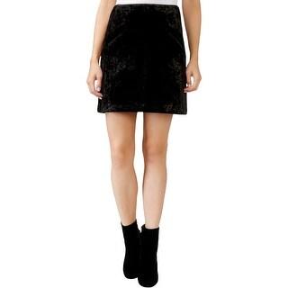 Rachel Rachel Roy Womens Mini Skirt Velvet A-Line