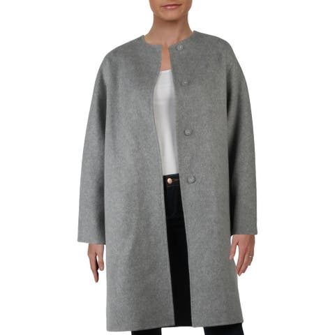 Theory Womens Double Face Coat Winter Wool