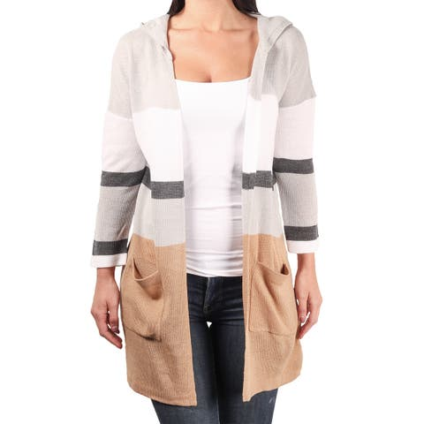 Sag Harbor Ladies Hooded Sweater Duster