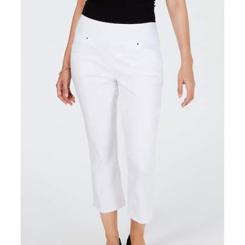 INC Womens Pants Bright White Size 6 Curvy Cropped Pull-On Stretch