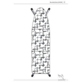 15 x 54 in. Deluxe Ironing Board Cover Brushstrokes, Grey